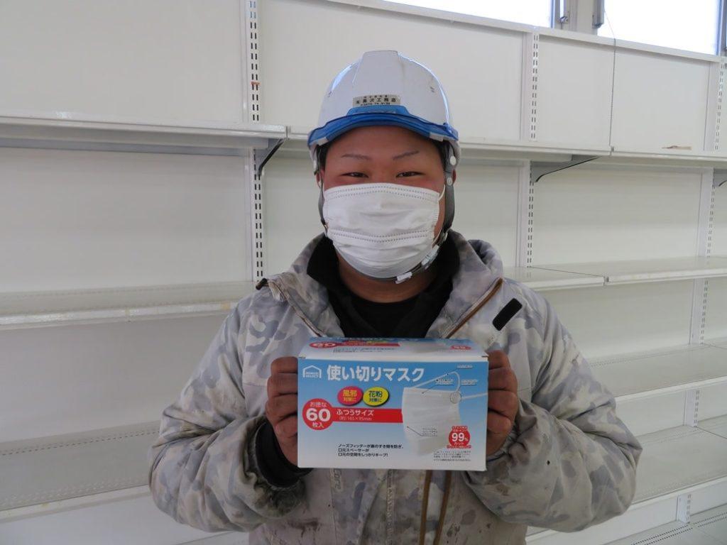 黒澤工務店では職人がマスク着用を徹底して行っております